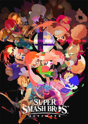 Super Smash Bros. Ultimate Inkling Poster by Leafpenguins