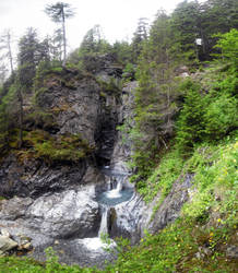 waterfall by Sancha-de-Aragone