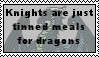 Knights Are Tinned Meals Stamp by Aazari-Resources
