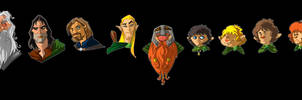 LOTR characters by themico