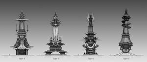 Tower of Dragon sketches by Olabukoo