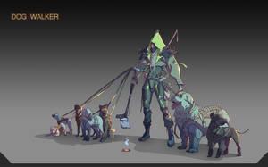 The Dog Walker by Olabukoo