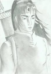 Old drawing : Warrior by Zavyanasan