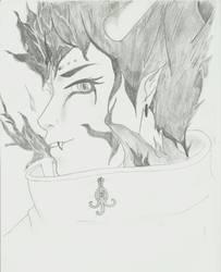 Old Drawing : nameless demon by Zavyanasan
