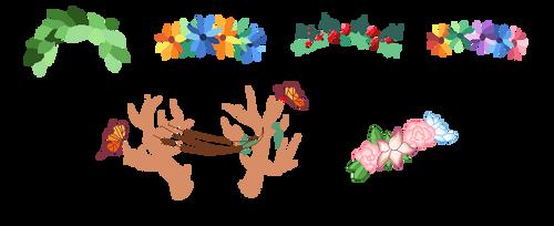 Homestuck Flower crown Base[F2U] by MudkipLox