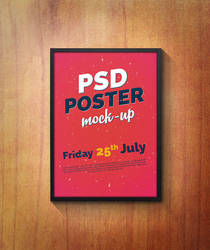 PSD Poster Mock-Up by Free-designs-net