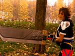 Sora with Buster Sword by Black-Nibel