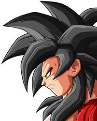 Goku SSJ          4 by drozdoo