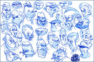 Mug Shots part 1 by Jays-Doodles