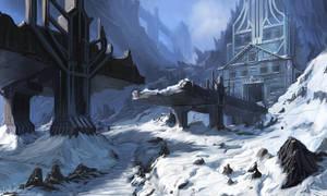 Snow fort by IIDanmrak