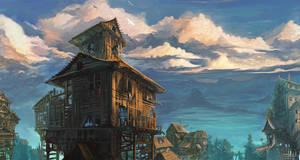 Heavenly ghost town by IIDanmrak
