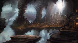 Cave town by IIDanmrak