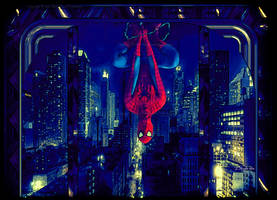 Spidey Hanging Around by KnightFlyte96