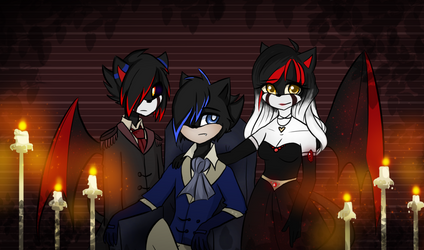 Commission 3/3: Volcanic Desire .:Family Portrait: by MadDuckie76105