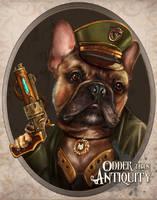 Minerva the Steampunk French Bulldog Aviatrix by MissTakArt