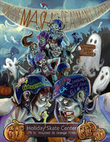Roller Derby Zombie Poster by MissTakArt
