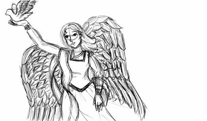 Angel sketch by Mystic-Jay