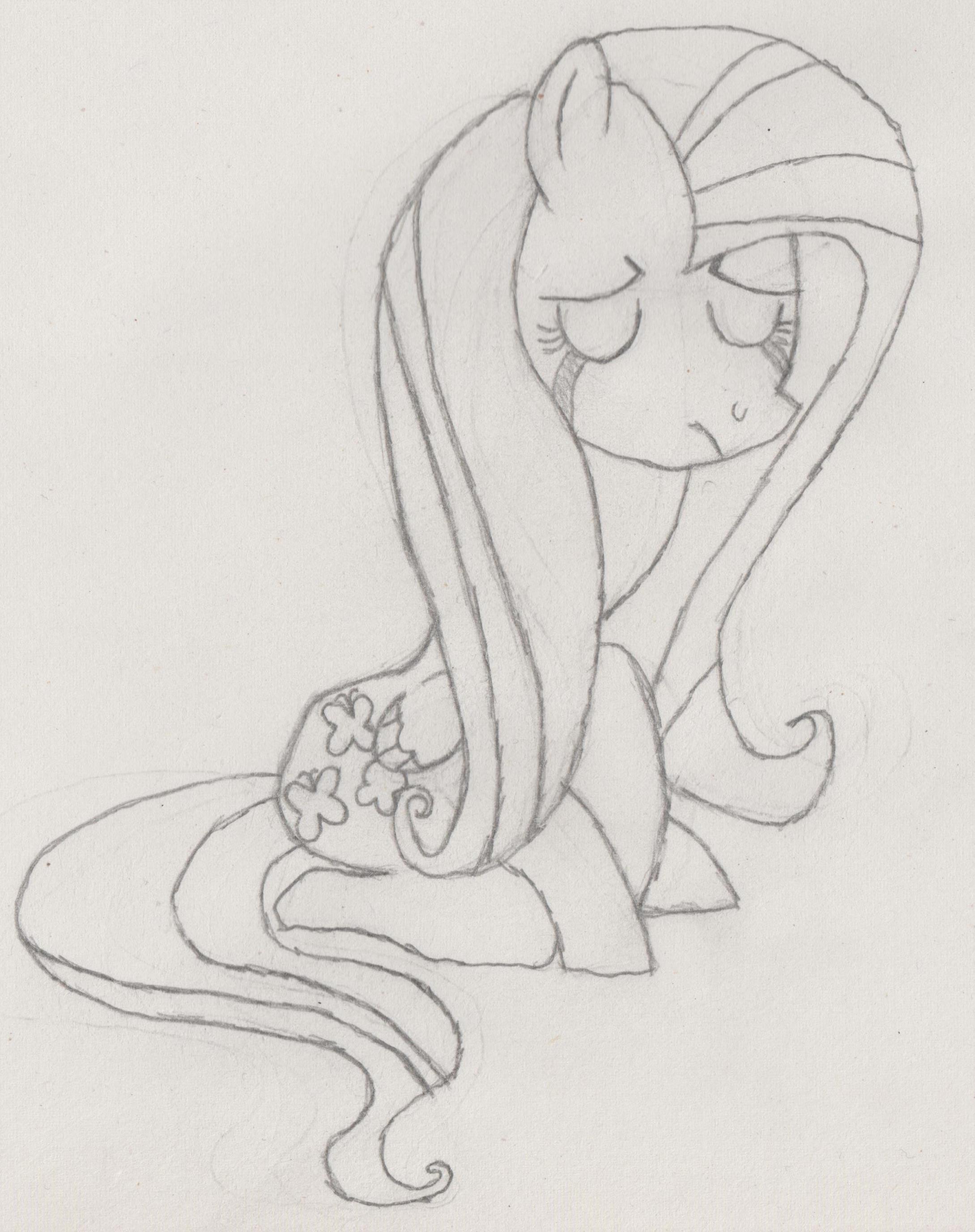 Flutter sad by HeadlongEquestria