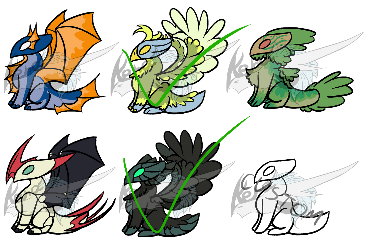 More Thingy Adopts (Open 4/6) by CuriousDragonChild