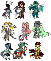Various Humanoid Adopts (OPEN 8/9) by CuriousDragonChild