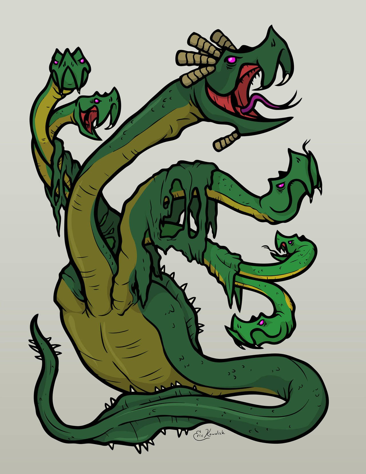 Lernaean Hydra by Monster-Man-08