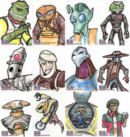 Star Wars Galaxy Sketch Cards - 02 by Monster-Man-08