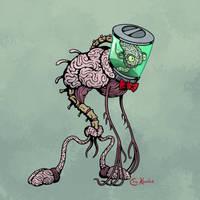Halloween '17: Brain in a Jar by Monster-Man-08