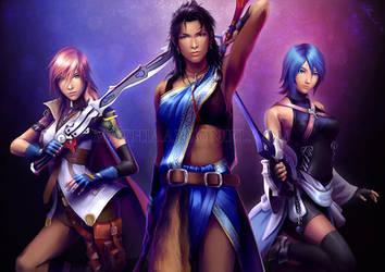 final fantasy: Triple Threat by MathiaArkoniel