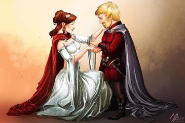 asoiaf: Tyrion and Sansa's Wedding by MathiaArkoniel