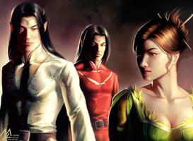 elantra: Kaylin, Nightshade, Evarrim by MathiaArkoniel