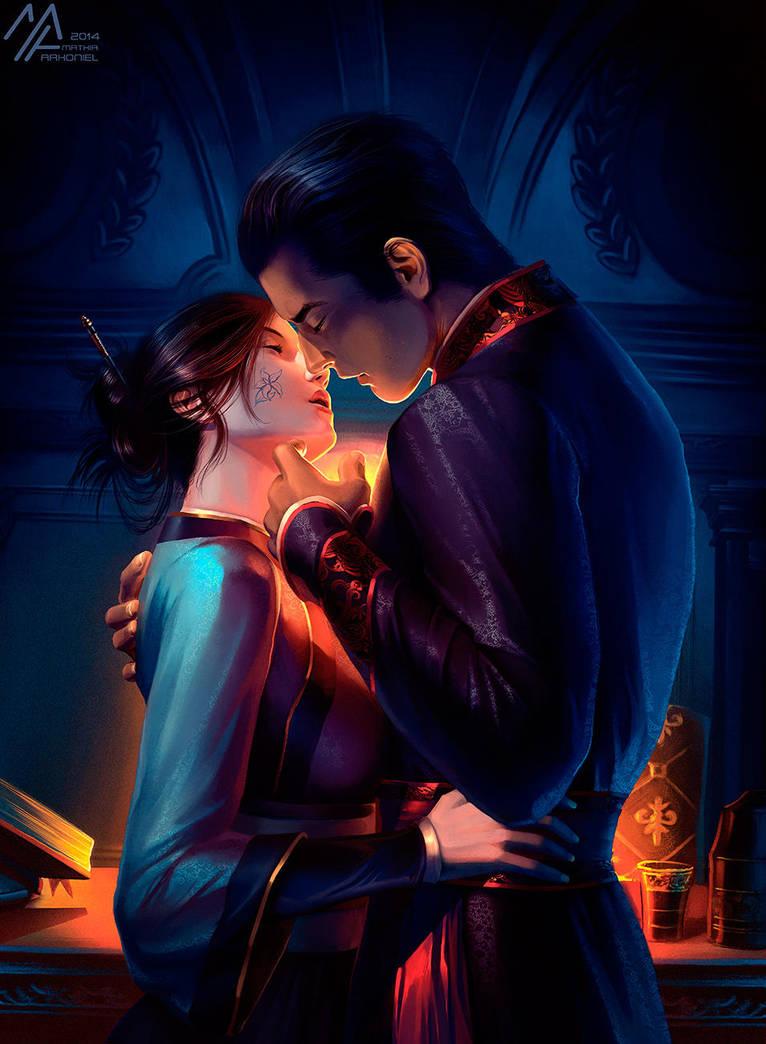 elantra: Kaylin and Lord Diarmat by MathiaArkoniel