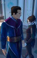 elantra: Kaylin and Lord Diarmat 2 by MathiaArkoniel