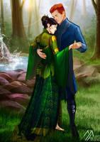 elantra: Kaylin and Severn 4 by MathiaArkoniel