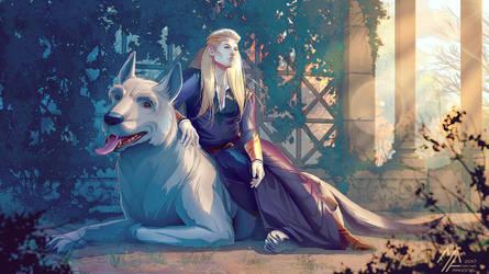 Silmarillion Celegorm Huan by MathiaArkoniel