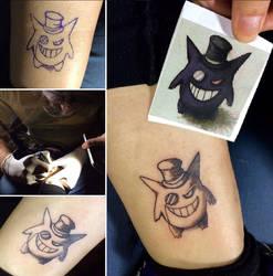 Gentleman Gengar Tattoo by Aranglinn