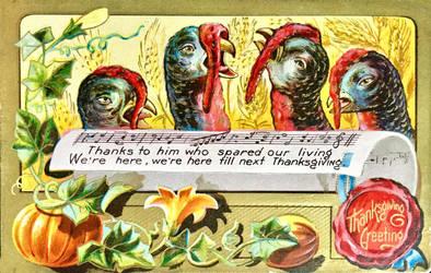 Joyful Turkey Chorus by Yesterdays-Paper