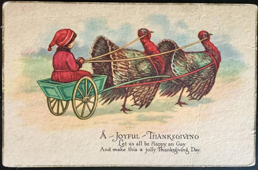 Joyful Thanksgiving Turkey Wagon by Yesterdays-Paper