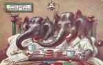 Breakfast in Bed - Elephants by Yesterdays-Paper
