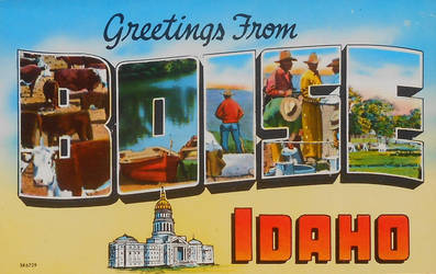 Large Letter Postcard - Boise ID by Yesterdays-Paper