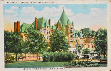 Montreal - Hotel Place Viger and Station by Yesterdays-Paper