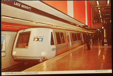 BART Train, 1970s Postcard by Yesterdays-Paper