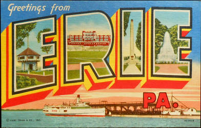 Large Letter Postcard - Erie PA by Yesterdays-Paper
