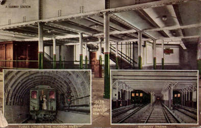 Vintage New York - Rapid Transit NY by Yesterdays-Paper