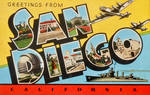 Large Letter Postcard - San Diego CA by Yesterdays-Paper