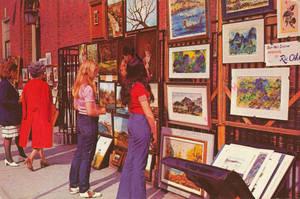 Vintage New York - Greenwich Village Street Art by Yesterdays-Paper