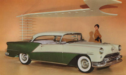1954 Olds Ninety-Eight Coupe by Yesterdays-Paper