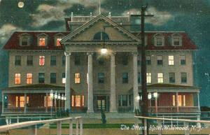 Night Scene Postcards - Ottens Hotel, Wildwood NJ by Yesterdays-Paper