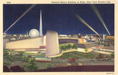 Night Scene Postcards - New York World's Fair by Yesterdays-Paper