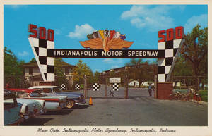 Vintage Indiana - Indianapolis Motor Speedway by Yesterdays-Paper