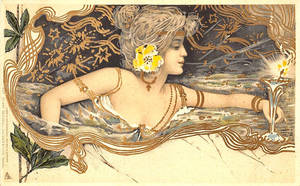 Art Nouveau Enchantments - Loving Cup by Yesterdays-Paper